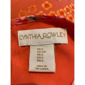 Cynthia Rowley Tops - Cynthia Rowley Orange Floral Print Top Blouse S